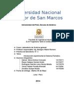 3º Informe Lab Quimica Tabla Periodica