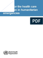 Manual for the health care of children in humanitarian emergencies