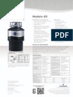 Triturador de resíduos alimentares InSinkErator® modelo 65