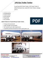 Used LPG Gas Trailer Tanker