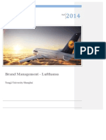 Brand Analysis Lufthansa - Brand Management