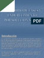Equilibrio de Fases y Endurecimiento Por Solucion Sólida Cuarta Sesion