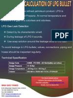Volume Calculation of LPG Bullet