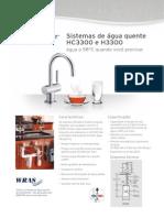 Sistemas de água quente HC3300 e H3300