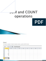 SUM and COUNT Operations