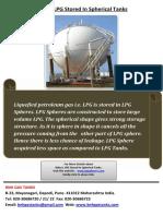 Why is LPG Stored in Spherical Tanks