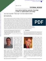 Transformation of Biomass Derived Platform Molecules
