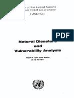 Desastres Naturais - Análise ONU