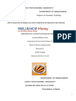 Swot Analysis of Demat Account Services Reliance Securities