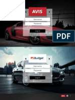 Mobile Application Selected Screens