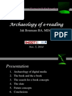 Archeologie of e-Reading