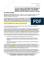 BHIVA/EAGA (UK) Position Statement on the Use of Antiretroviral Therapy to Reduce HIV Transmission Updated Sept 2014