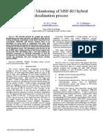 Control and Monitoring of MSF-RO Hybrid Desalination Process. Kumar. 2013. IEEE