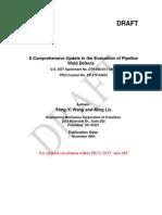 Weld Code Revision Progress Report
