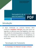 Aula - Introdução Ao Sistemas de Tratamento de Águas 05-11-2014