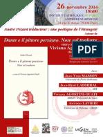 Dante e il pittore persiano - 26 novembre Institut Catholique de Paris