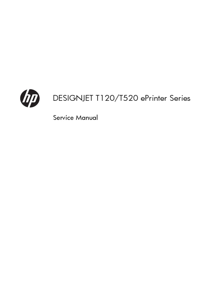 Hp Designjet T120 T520 Eprinter Series Parts And Service Manual Plotter 24 Inch Gear Printer Computing