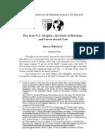 o 37 Waehlisch the Iran u.s. Dispute