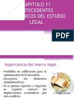 MARCO LEGAL E INVERSIONES DE UN PROYECTO