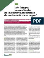 Depuracion aguas residuales de la industria de la aceituna