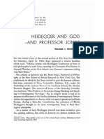 William Richardson Heidegger and God and Professor Jonas