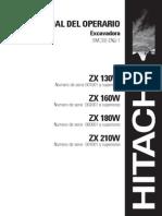 Hitachi ZX210W Manual Del Operario