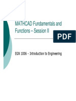 Mathcad Fundamentals and Functions II