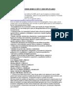 Actividades Poder Dirección y Disciplinario Tema 1