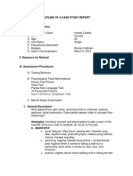Outline of a Case Study Report
