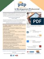 Programme de Développement Professionnel De novembre 2014 à mai 2015