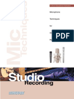Microphone Techniques for Studio Recording