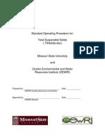 Standard Operating Procedure for Missouri State