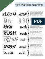Masthead Font Planning...