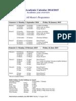 Feb Academic Calendar 2014-15 Msc-1