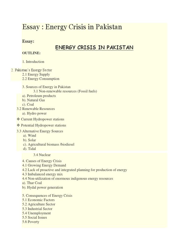 essay energy crisis essay
