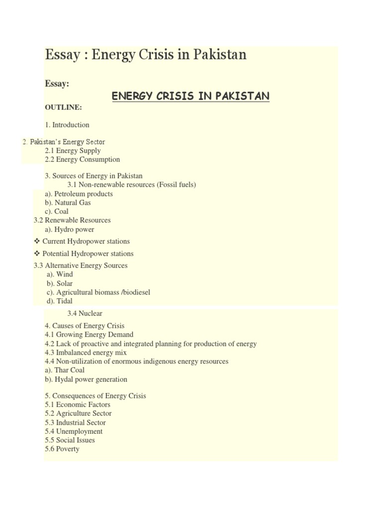 Energy Crises In Pakistan  Natural Gas  Renewable Energy  Health Needs Assessment Essay also Jane Eyre Essay Thesis  English Sample Essays