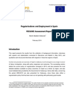 Regularisations and Employment in Spain 2014