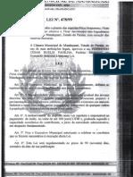 Lei nº 478/99 - Proibição de Espécies Arbóreas