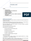 Maxillofacial Trauma and Management