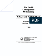 Health Consequences of Nicotine Addiciton SGR 1988