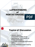 Reprocessing of Pentax Endoscopes