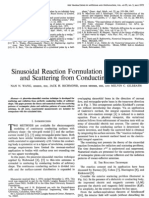 Sinusoidal Reaction Formulation for Radiation and Scattering From Conducting Surfaces