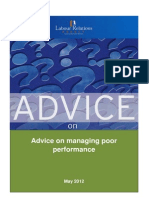Advisory Guide-managing Poor Performance - August 2012