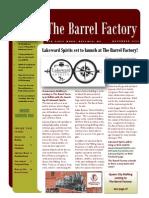 The Barrel Factory Newsletter Nov. 2014
