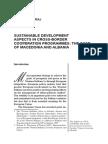 Klodjan SEFERAJ SUSTAINABLE DEVELOPMENT ASPECTS IN CROSS-BORDER COOPERATION PROGRAMMES