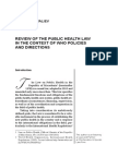 Filip CHICHEVALIEV REVIEW OF THE PUBLIC HEALTH LAW IN THE CONTEXT OF WHO POLICIES AND DIRECTIONS