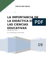 La Import an CIA de La Didactica en Las Ciencias Educativas