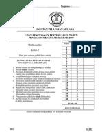 Ujian Pengesanan Form 3(2009) Maths Kertas 2