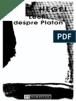 G. W. F. Hegel - Lectii Despre Platon