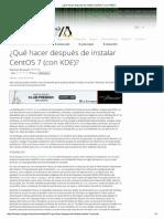 ¿Qué Hacer Después de Instalar CentOS 7 (Con KDE)